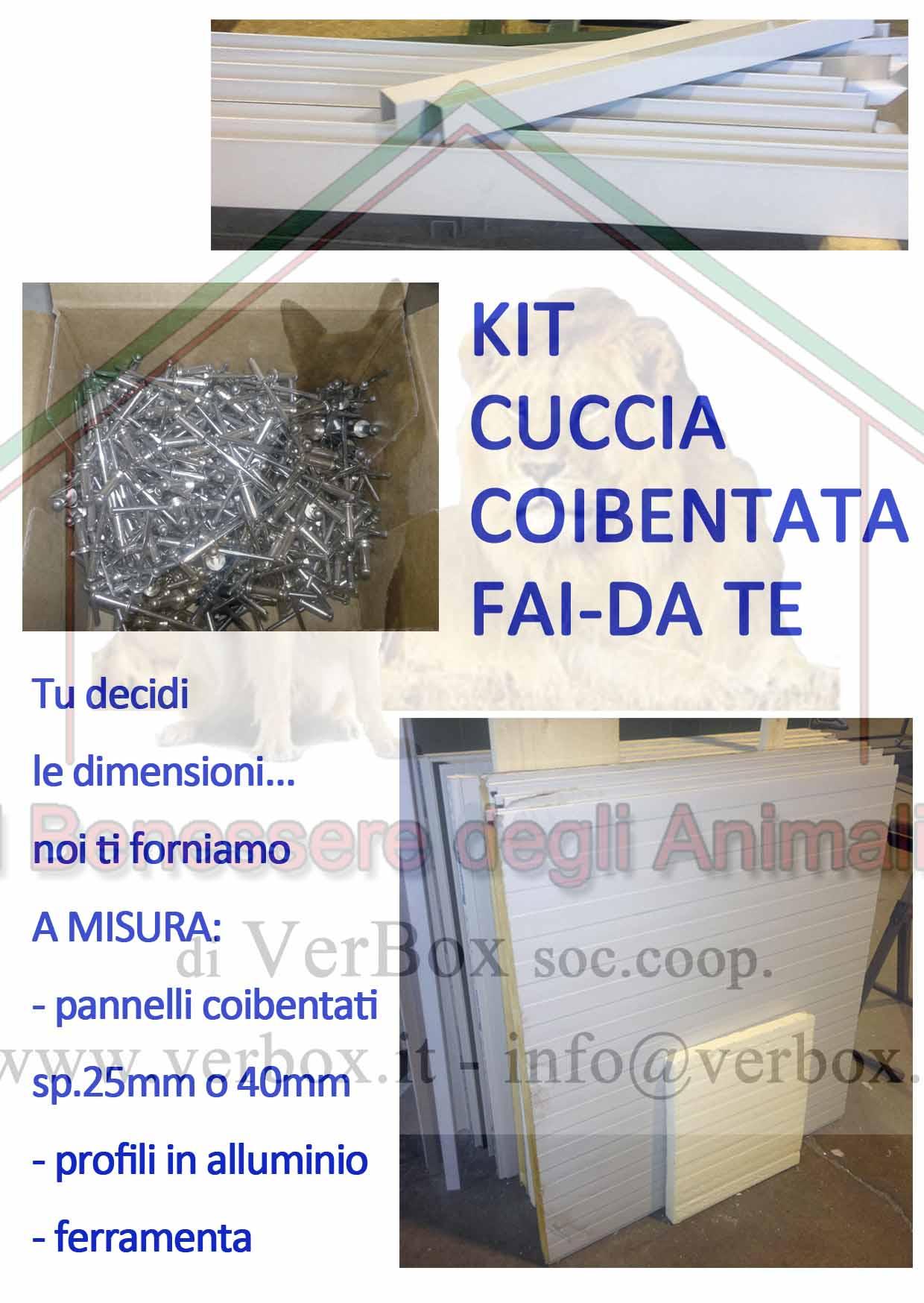 Come Costruire Una Cuccia Coibentata kit per cuccia coibentata fai da te con profili in alluminio